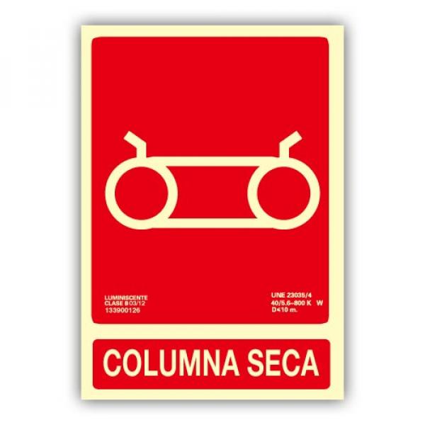 Señal Columna Seca 21x30cm
