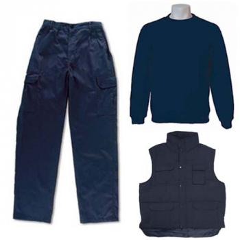 Pantalón algodón, sudadera y chaleco