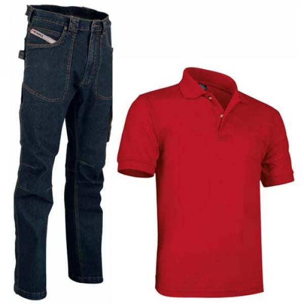 Pantalón vaquero Cofra y polo algodón