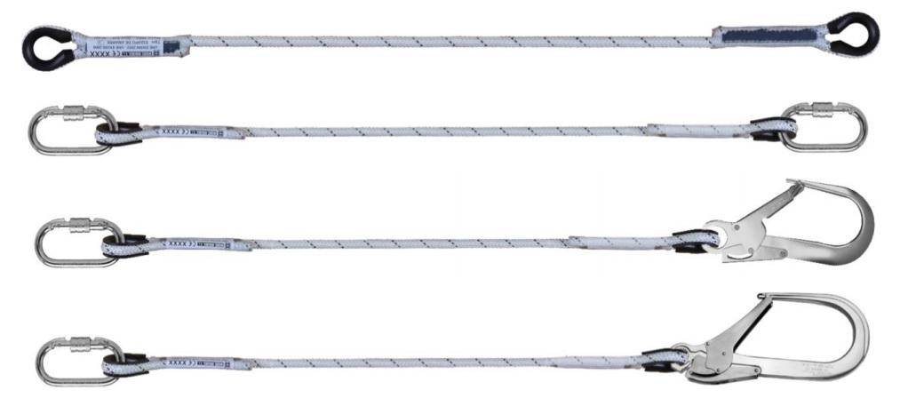 Cuerda de amarre y posicionamiento con conectores